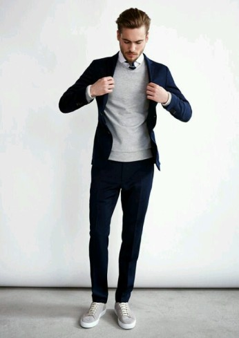 Sweater and Blazer look